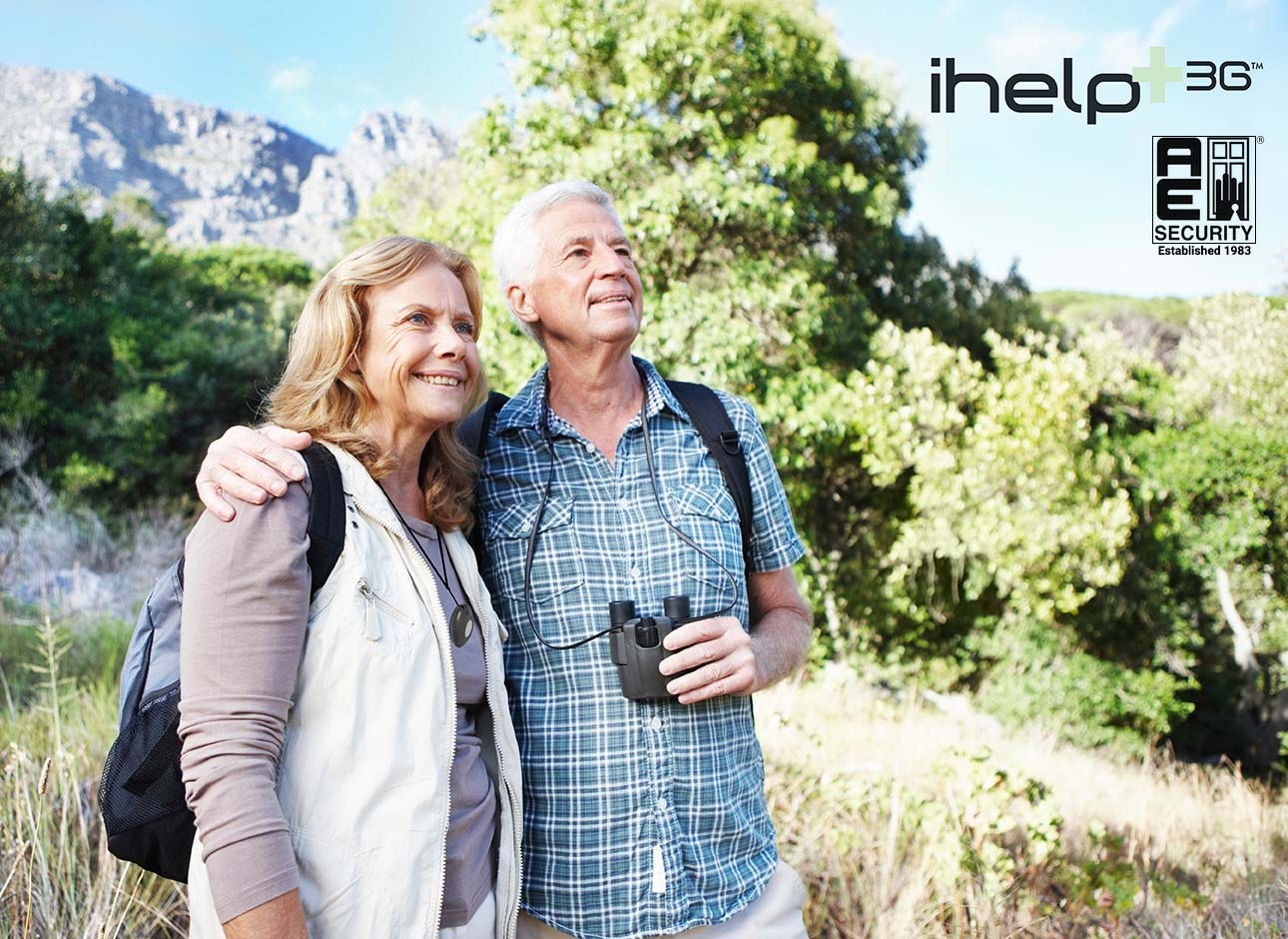Couple outdoors walking with ihelp+3G